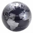 Globo Terrestre Giratório Plástico Preto