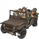 Jeep do Exército com Soldados