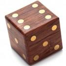 Jogo Com 5 Dados em Caixa de Madeira