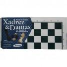 Jogo de Xadrez e Damas Madeira