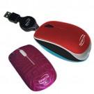 Mini Mouse Retrátil Shiny Vermelho