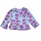 Blusa em Malha Estampa Flores para Menin