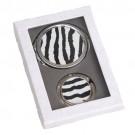 Suporte Para Pendurar Bolsa com Espelho Estampa Zebra