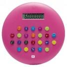 Calculadora Plástica Redonda Tasty Rosa