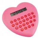 Calculadora Plástica Coração Love Rosa