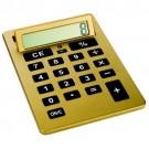 Calculadora A4 Gigante Dourada com 8 Dig