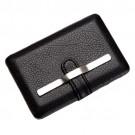 Porta Cartão de Bolso em Couro com Metal