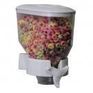 Porta Cereal Branco Simples de Parede