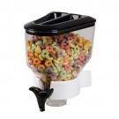 Porta Cereal Preto Simples de Parede