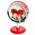 Relógio de Mesa Retrô Vermelho Coração