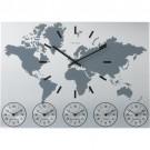 Relógio de Parede em Alumínio World Time