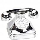 Telefone Modelo Antigo Prata