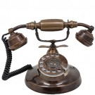 Telefone Retrô Clássico Bronze