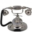 Telefone Retrô Clássico Niquelado