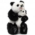 Urso Panda com Filhote em Pelúcia Hansatronics