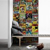 Adesivo Decorativo de Parede DC Covers