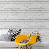 Adesivo Decorativo de Parede Tijolo Branco