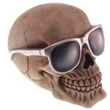 Caveira de Óculos Escuros em Resina