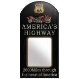 Placa de Parede com Espelho Route 66
